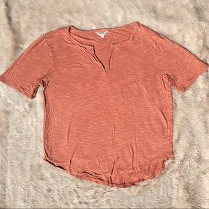 Madewell Coral Short Sleeve Tee Size Medium